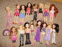 Bratz dolls, Coralie makeup and styling head, other dolls