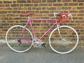 Vintage pink Mercier racing bicycle