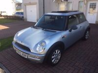 mini one 1598cc silver 02 plate 850 no offers swap for 7 seater 05 upwards