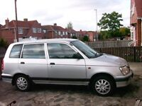 DAIHATSU 5 DOOR ESTATE (GRAND MOVE) currently off the road with flat battery. OFFERS: £90 to £125.