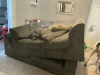 2 Grey Fabric Sofas NEED GONE ASAP CHEAP