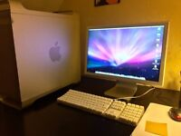 """Apple Mac G5 tower 2GHz, 160GB with 23"""" display, keyboard, mouse"""