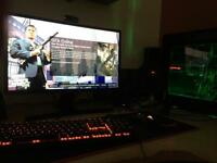 """*BUNDLE* Full Custom Built Gaming PC with 24"""" Full HD 1080p curved Samsung monitor"""