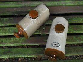 Pair Vintage pottery WATER BOTTLES....