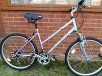 "Ladies 17"" frame lightweight aluminium mountain bike."