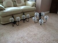 SET OF CIELING AND WALL LIGHTS