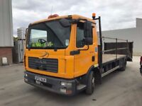 MAN TGL 7.150 BEAVERTAIL RECOVERY TRUCK ,57REG, LEZ COMPLIANT, FOR SALE