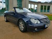 Mercedes CLK 240 v6 convertible blue HPI clear 1 prev owner 90k miles sat nav heated bmw x1