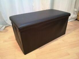 Large Faux Leather Ottoman Pouffe Storage Box Footstool Toy Box