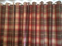 Highland check curtains