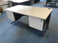 Sturdy Office Desk 1600mm x800mm (1 of 8 available)