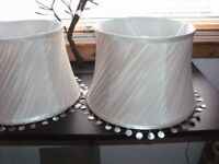 2 quality beige lamp shades