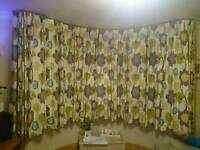 Fully lined curtains