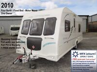 2010 BAILEY OLYMPUS 534 - 4 BERTH - FIXED BED - MOTOR MOVER – ONE OWNER - WARRANTY - CRIS REG'