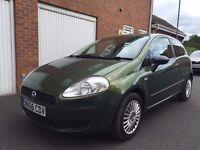 2006 56 Fiat Grande Punto ''Rare Khaki Green'' 70,000 Miles 3dr Long MOT not corsa polo 1.4 clio