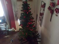 6 Foot fibre Optic Christmas Tree in Green
