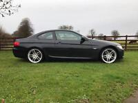 2010 BMW 330D COUPE M SPORT FACELIFT LCI BLACK 1 OWNER FSH VGC PX