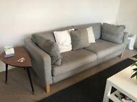 IKEA Karlstad Isunda Grey 3 Seat Sofa