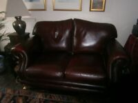 2 Matching lovely British made leather sofas