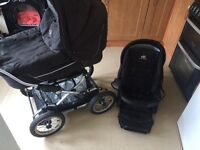 Black VIB Pram Carrycot Buggy