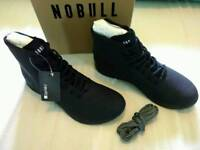 NOBULL UNISEX BLACK HIGH-TOP TRAINERS RRP £130 BRAND NEW IN BOX