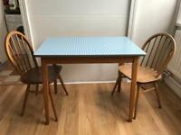 Cute 1960s Formica and wood table/desk
