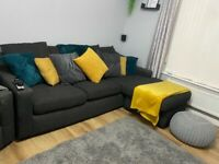 3 seater corner sofa & cuddler