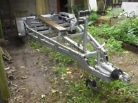 Boat trailer, large RM Trailers twin axle 3500kg trailer with electrics etc, good condition