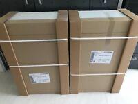 Pair of White Kitchen 600 Single Wall Units R&L - 900 High (Tall) Gloss White Door Altino Range *New