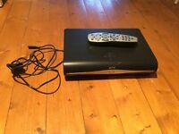 Sky + HD Box with control and power cable