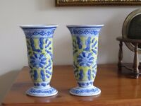 Blue and Yellow vases