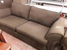 Dark Coffee Brown Fabric 2 and 3 Seater Sofas.