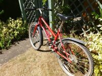Girls red MTB 24 inch wheels for 8 - 12 year olds