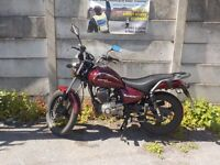 125cc zontes ybr 125 + more can also do cbt if required or training for full motorcycle licence