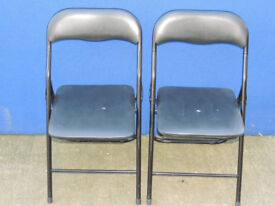 2 chairs Black foldable and compact (Delivery)