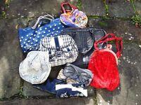 Bundle Job Lot womens handbags bags various colours and sizes