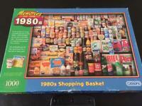 Gibsons 1000 piece jigsaw '1980's Shopping Basket'