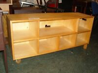 Solid Pine Display Cabinet. Media Unit