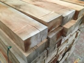 Oak railway sleepers pressure treated