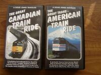 Video recordings - North American and CanadianTrain journeys