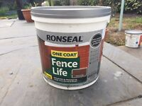 Brand new Ronseal one coat fence life colors and protects
