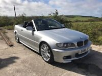 BMW 330CD MSPORT SILVER CONVERTIBLE MANUAL 2005 DIESEL LEATHER FSH