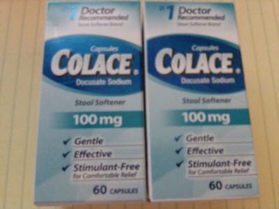 Docusate Sodium Liquid ( Lot of 2 Colace Docusate Sodium Stool Softener, 100 mg, 120 total. $30.74)