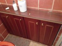 Set of Quality Rosewood toilet furniture units