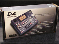 Brand new, unused, boxed, Korg D4 Multi Track Digital Recorder with power supply and new flash card.