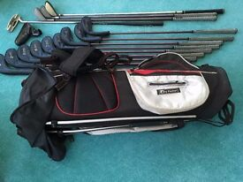complete set of clubs with carry bag to suit ladies and juniors