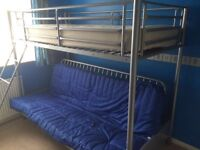 Bunk Bed with Sofa Bed at bottom, comes with mattress