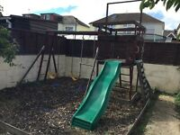 TP Climbing Frame Includes all in picture, needs small repair Buyers Collects & Dismantles