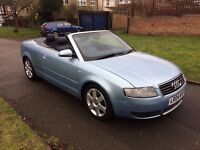 Audi A4 Cabriolet 1.8 T Sport 2dr, AUTOMATIC, 6 MONTHS FREE WARRANTY, FULL SERVICE HISTORY, AUX, USB