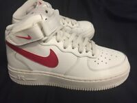 Nike Air Force 1 Sail / University Red trainers UK 3 NEW